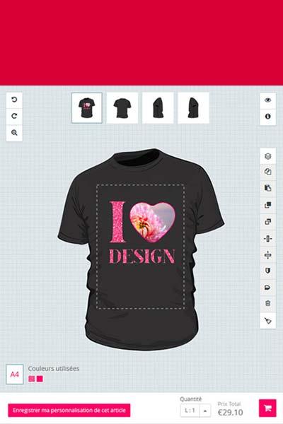 tshirt personnalisé en ligne